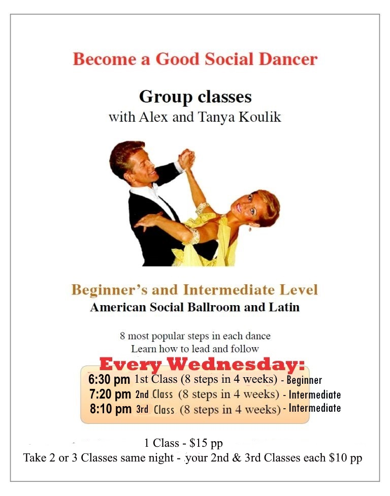 Alex & Tanya Koulik - American Social Ballroom & Latin Classes - Wednesday Evenings