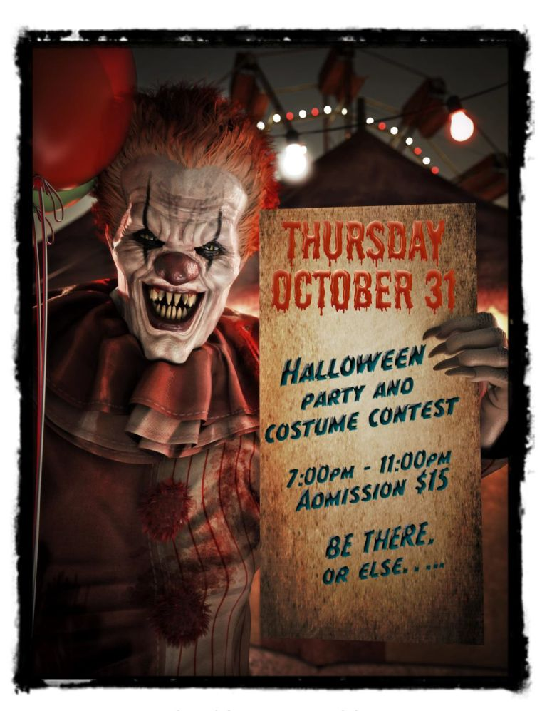 Annual Halloween Party & Costume Contest!! - Win Prizes!! - Thursday, October 31, 2019 -  7 PM - 11 PM