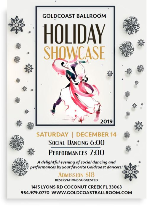 2019 Holiday Showcase Flyer
