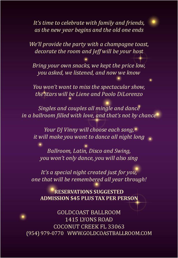 Goldcoast Ballroom Spectacular New Year's Eve Gala - December 31, 2019!!