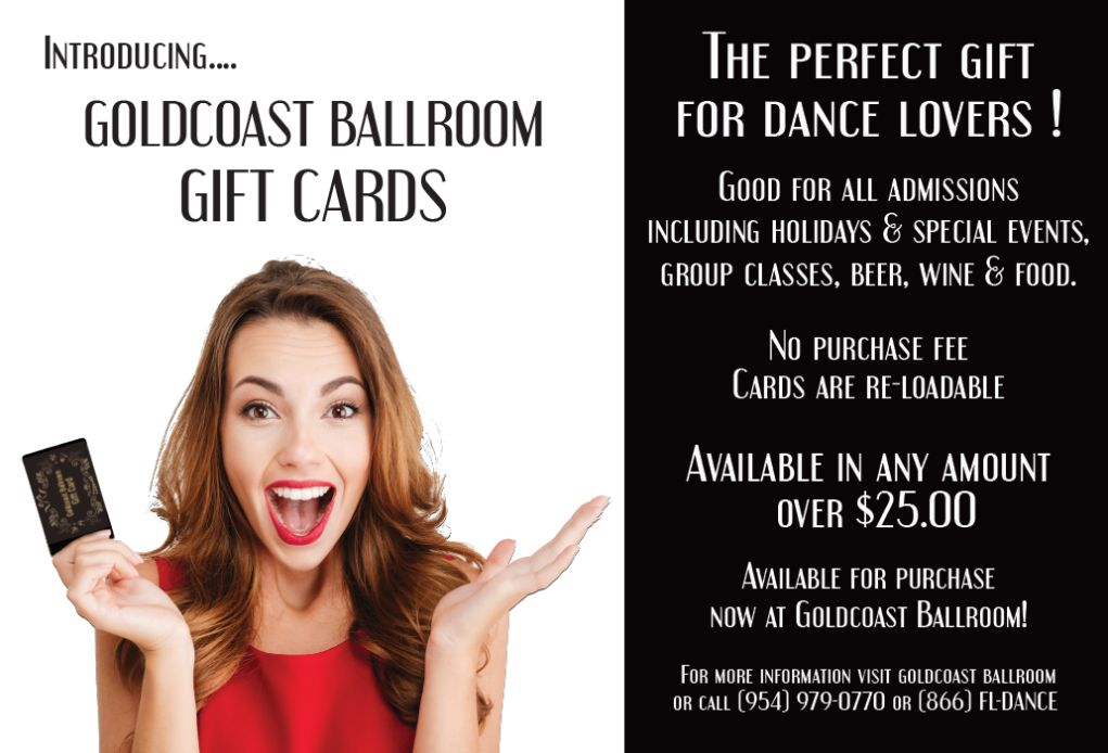 Goldcoast Ballroom Gift Card!