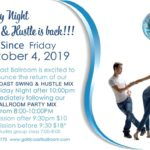 EXCITING!! – WCS MIX RETURNS TO FRIDAY LATE NIGHTS! – Starting in October – 8-10 pm DANCE PARTY MIX!! – 10 pm-12:30 am WEST COAST SWING MIX!! – $10* Admission at 9:30 pm or later!! – $18* Admission at 7 pm for Complimentary Class & Whole Night to 12:30 am!