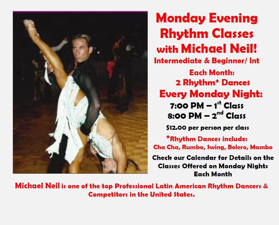 Monday Evening Rhythm Classes with Michael Neil