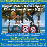 Friday & Saturday, February 28-29 Royal Palm DanceSport Championships – One of the Biggest Events of the Year!! – Buy Spectator Tickets Online NOW! – While they last!