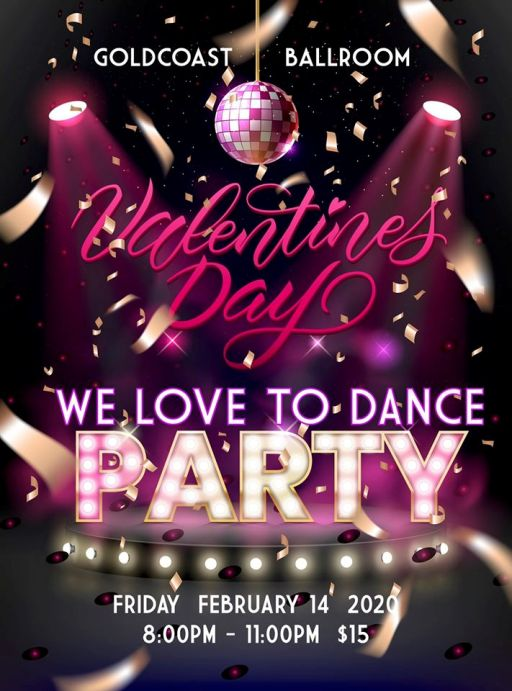 Valentine's Day Love to Dance Party - February 14, 2020!