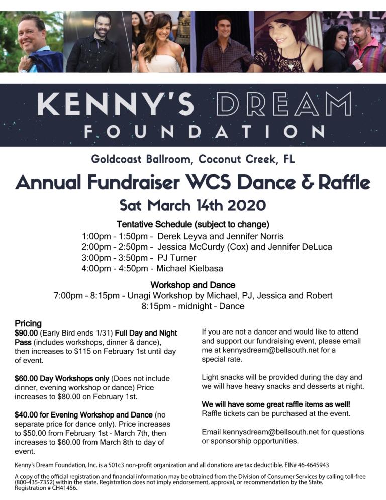 Kenny's Dream Foundation - Fundraiser & Raffle - March 14, 2020