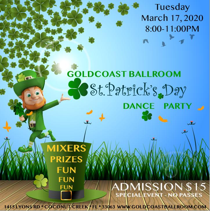 St Patrick's Day Party - Tuesday, March 17, 2020