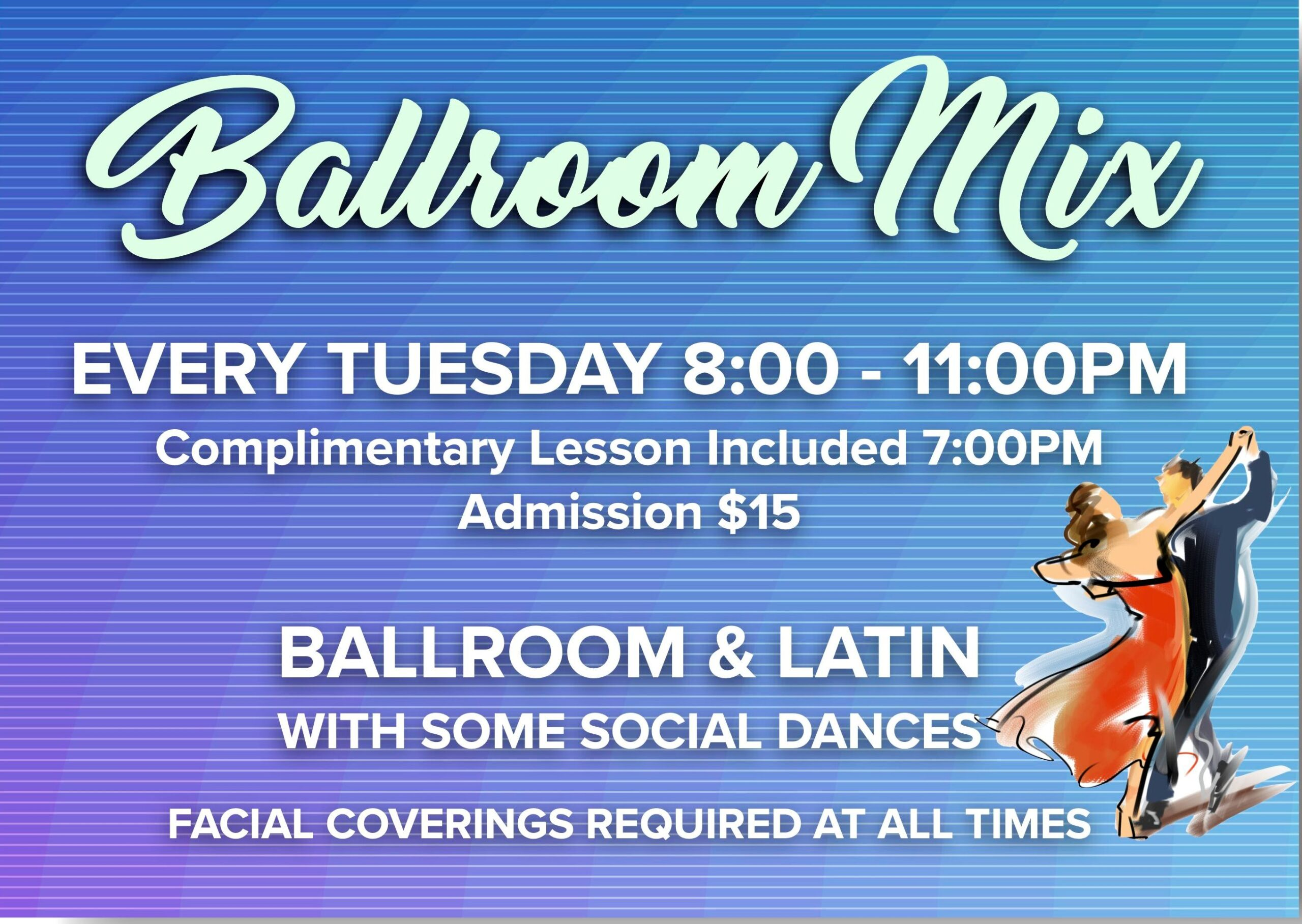 Ballroom Mix Every Tuesday Night at Goldcoast Ballroom, Starting in October, 2020