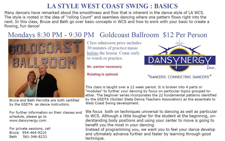 LA WCS - Basics -  with Bruce & Beth Perrotta - Mondays at 7 pm