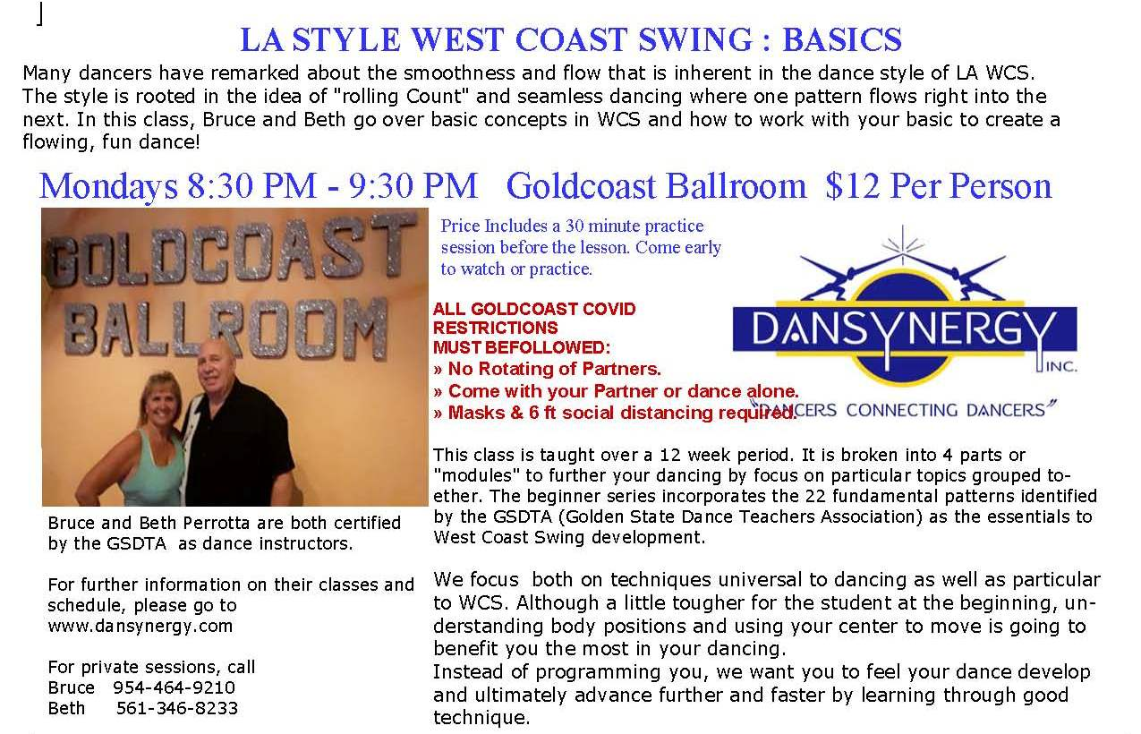 LA West Coast Swing Basics Class with Bruce & Beth Perrotta