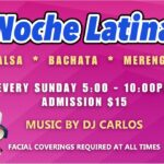 VERY EXCITING!! – Every Sunday Evening at Goldcoast Ballroom! – Noche Latina!! – Sizzling Latin Mix Social Dance 5 PM – 10 PM! – Only $15 for the Evening! – Masks, Social Distancing & COVID-19 Safety Precautions Apply per Broward County Regulations