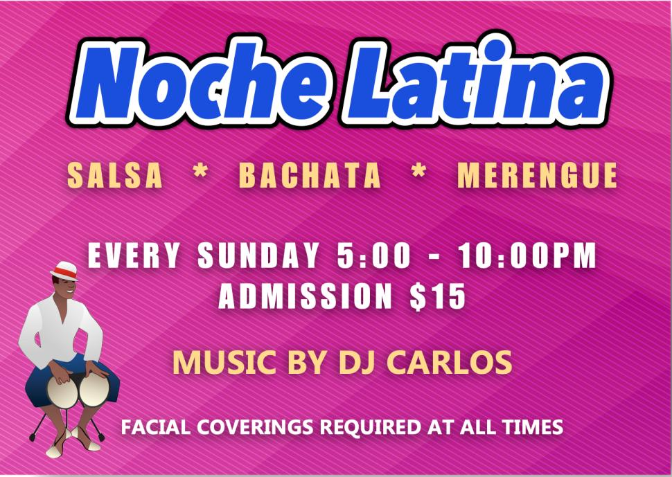 Noche Latina - Every Sunday at Goldcoast Ballroom!