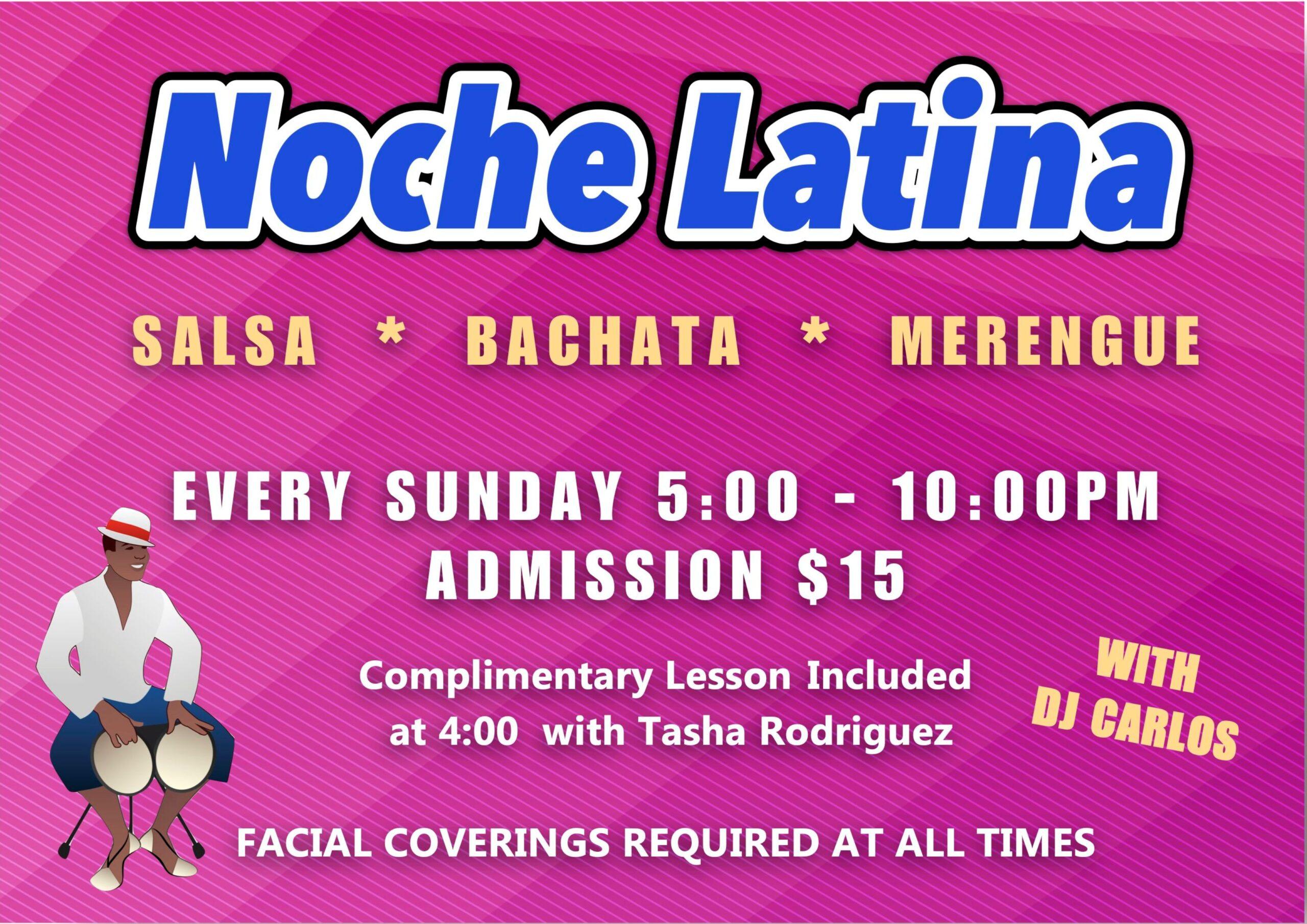 Noche Latina at Goldcoast Ballroom - Every Sunday - 5 - 10 pm