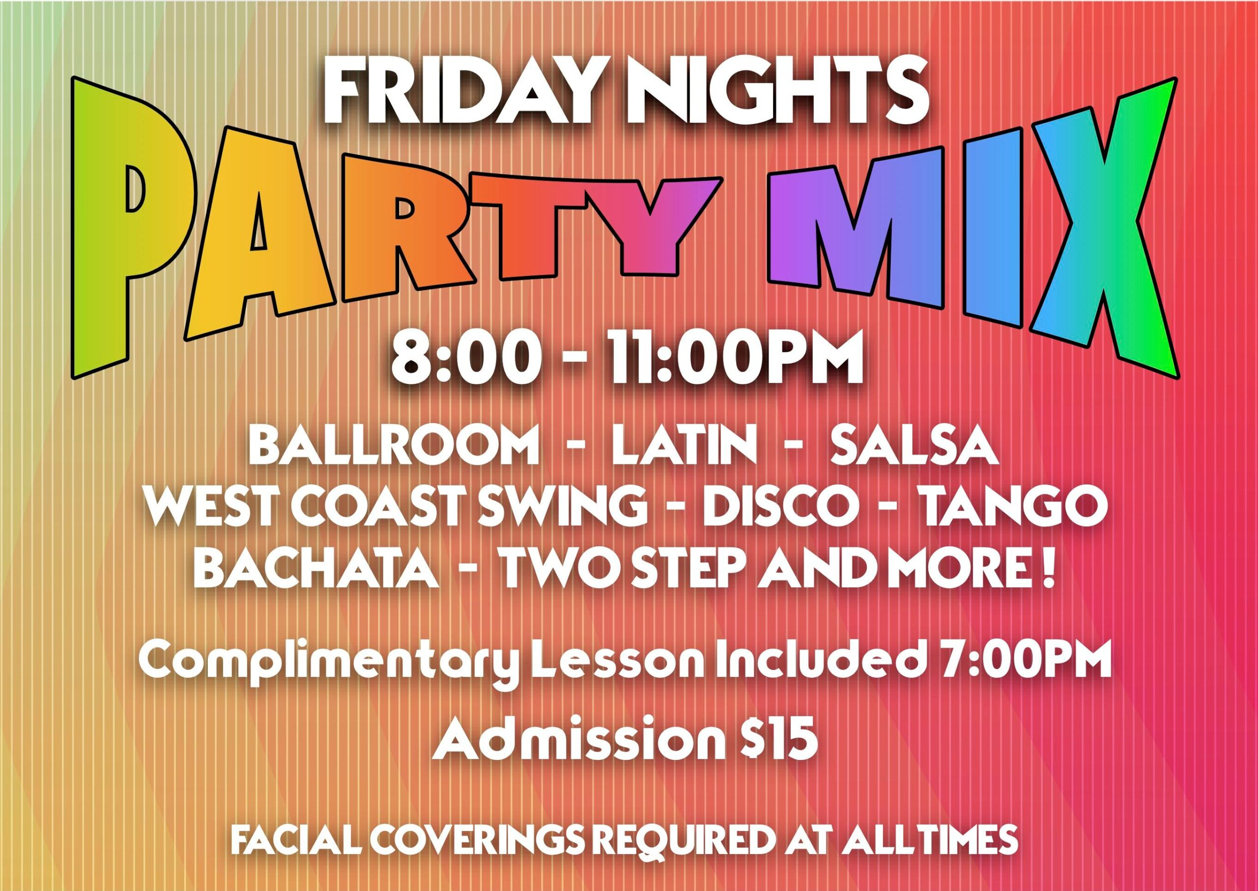 Party Mix - Every Friday Night at Goldcoast Ballroom - Starting in October, 2020
