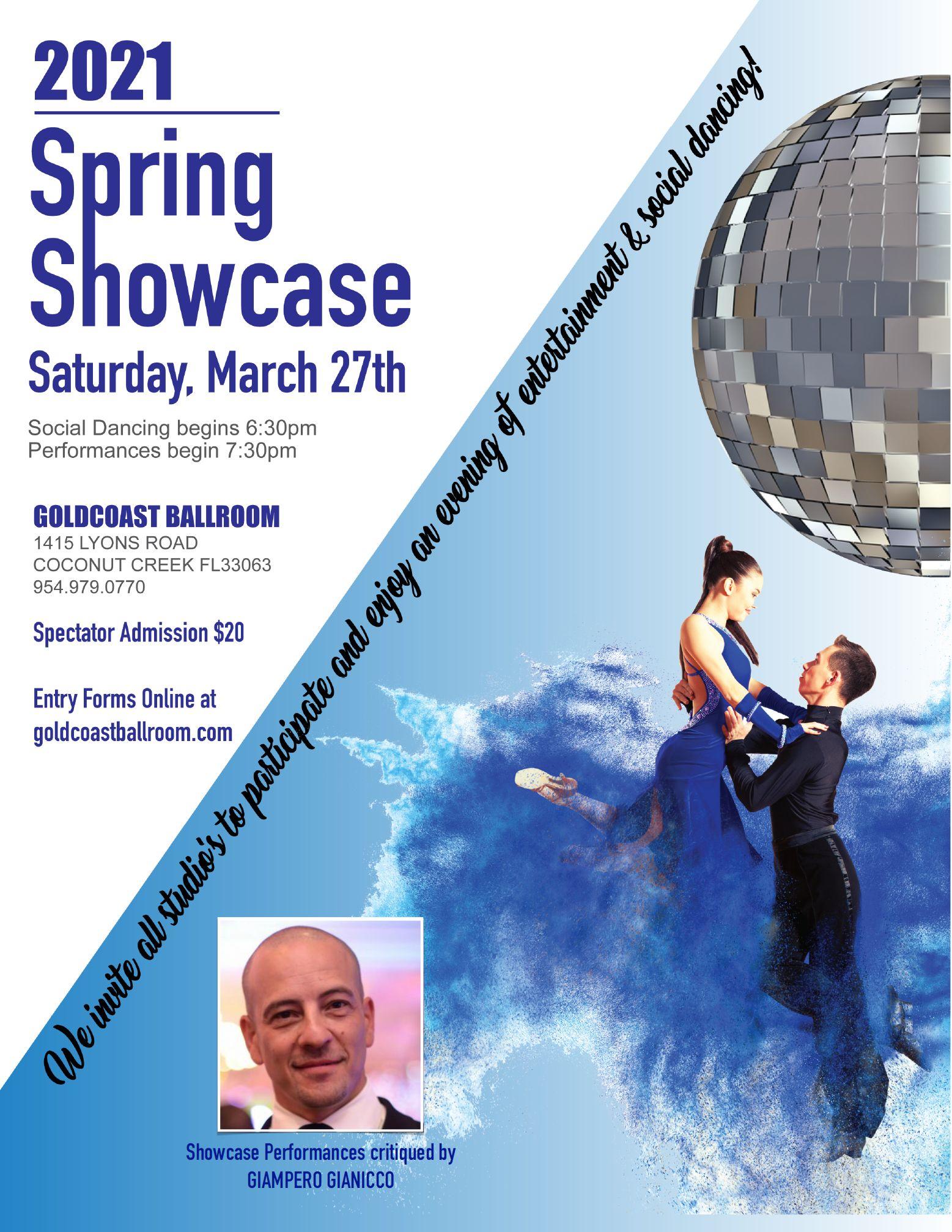 Goldcoast Ballroom 2021 Spring Showcase - March 27, 2021
