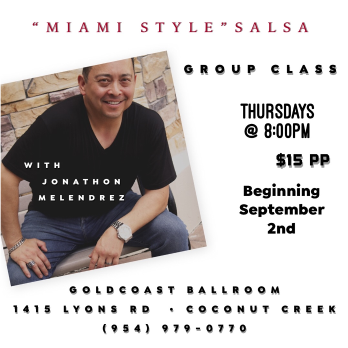 Miami Style Salsa Group Class! – with Jonathan Melendrez – Every Thursday in October – 8 PM – $15 per person