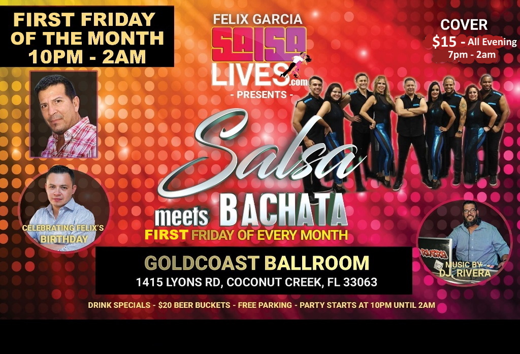 Salsa Meets Bachata Every First Friday Of The Month- $15 all Evening